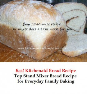 Kitchenaid Mixer Bread Recipe The Homemade Homestead
